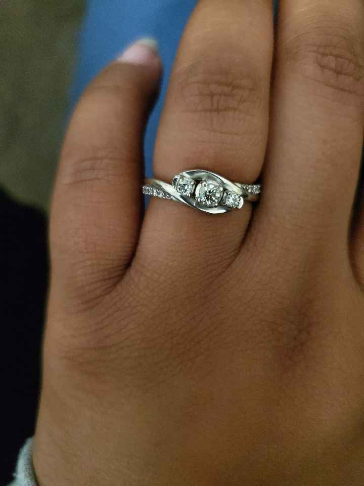 i want to see your engagement rings! - 1