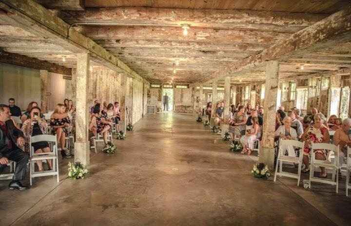 Indoor/weather alternative ceremony space