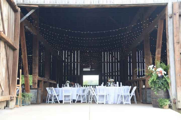 Not a great picture, but shows the general idea for the reception space!