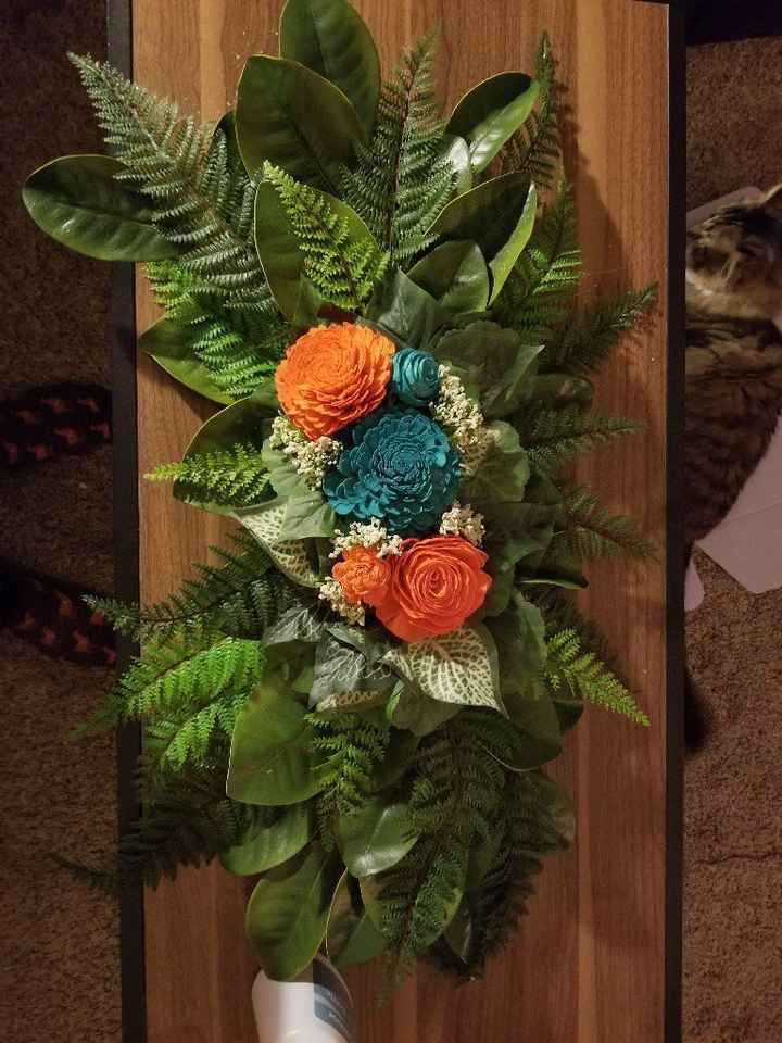 Diy Floral Swag for Pergola - 2