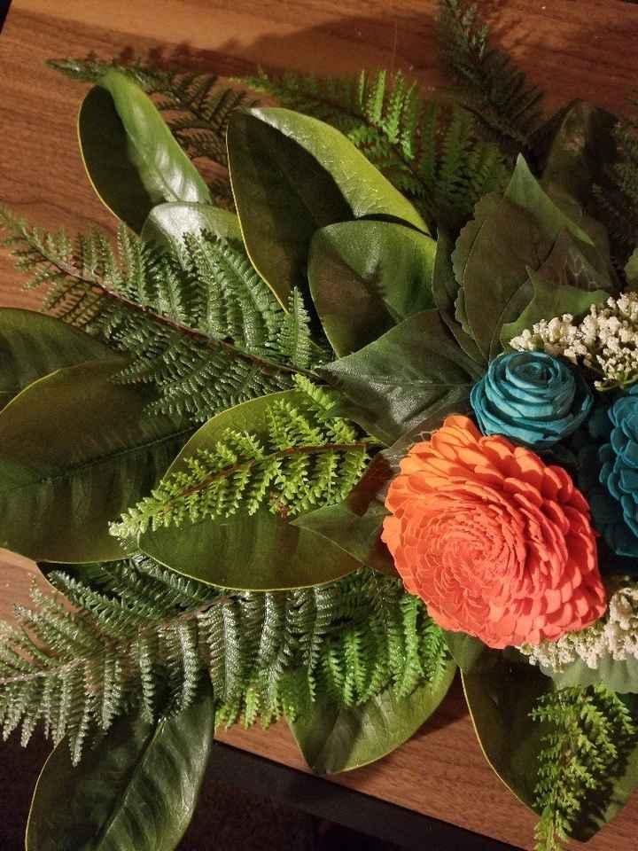 Diy Floral Swag for Pergola - 3