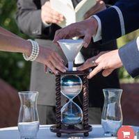 Hour glass for sand ceremony