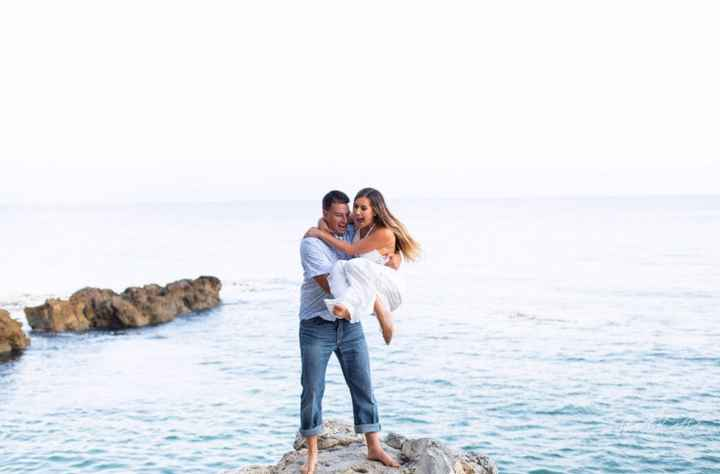 Show off your weird engagement pic - 1