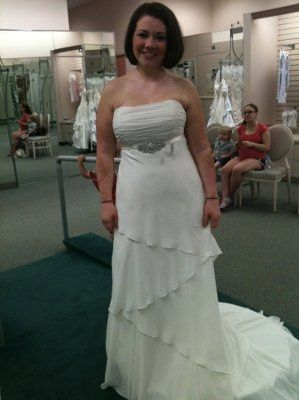 39368d69b759f I bought this dress the day after i got engaged and now im worried i made a  haste decision. What do yall think