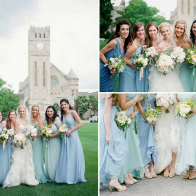 Bridesmaids: different styles in a few different shades 1