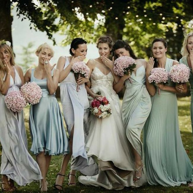 Bridesmaids: different styles in a few different shades 2