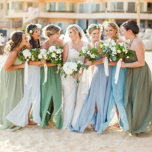Bridesmaids: different styles in a few different shades 3