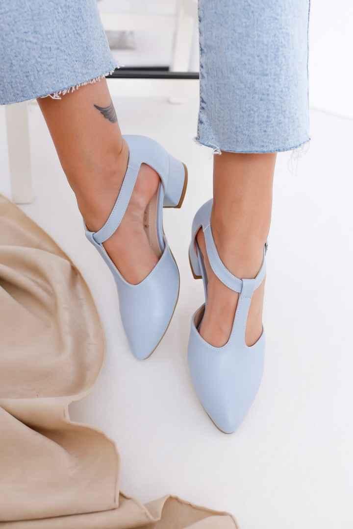 Blue wedding shoes - 1