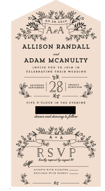 Invitations and wedding website 1