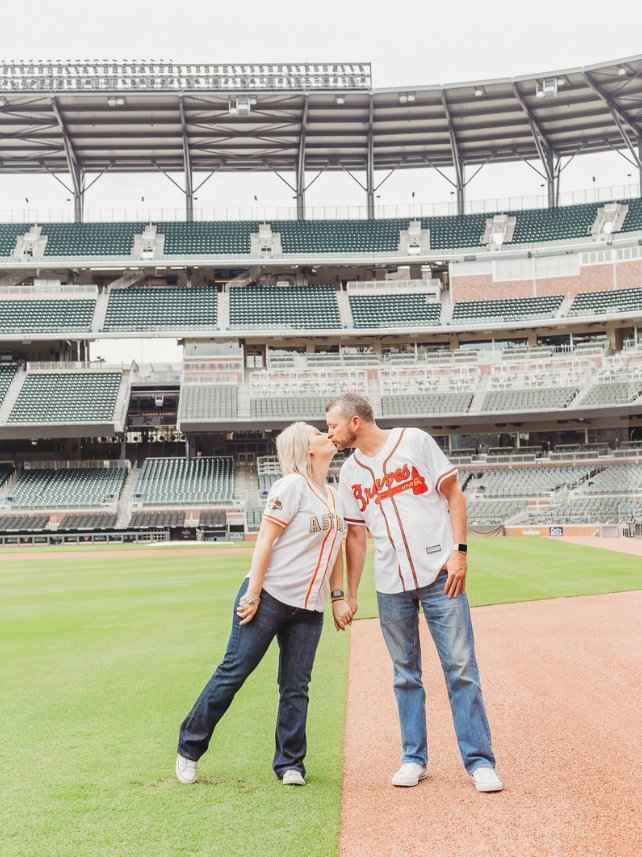 Braves Stadium Engagement Pictures - 2