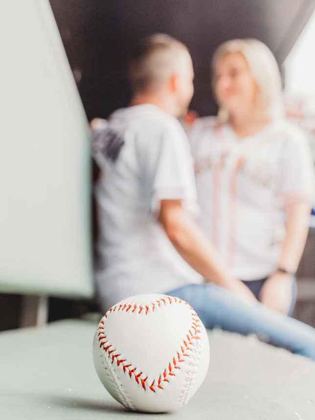 Braves Stadium Engagement Pictures - 3