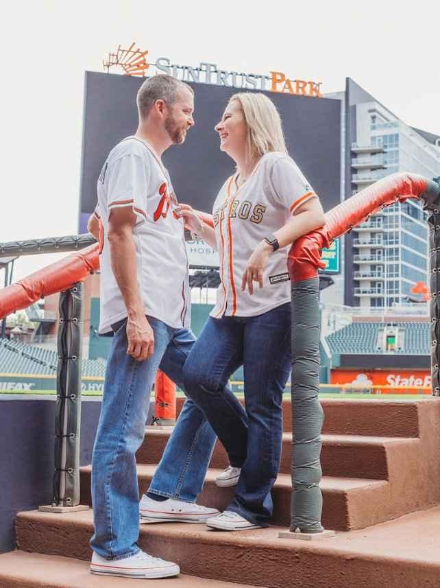 Braves Stadium Engagement Pictures - 4
