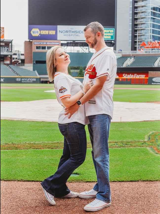 Braves Stadium Engagement Pictures - 5