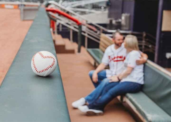 Braves Stadium Engagement Pictures - 6