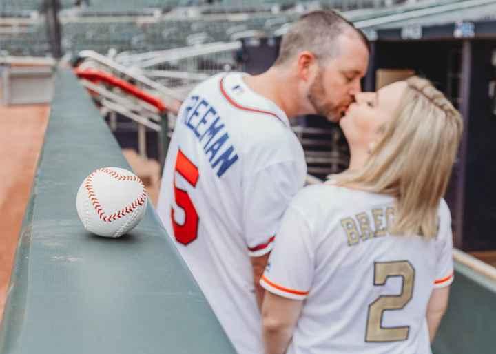 Braves Stadium Engagement Pictures - 7