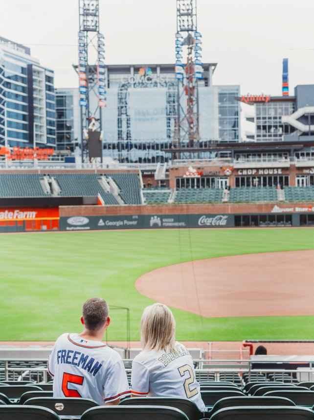Braves Stadium Engagement Pictures - 8