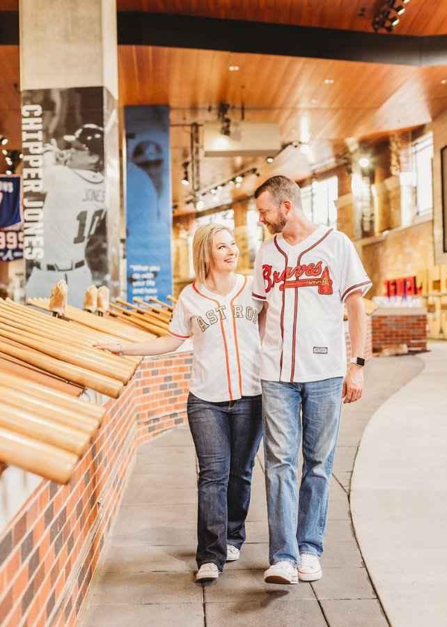 Braves Stadium Engagement Pictures - 10