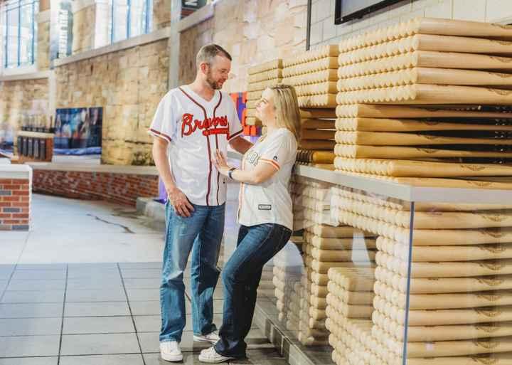 Braves Stadium Engagement Pictures - 11