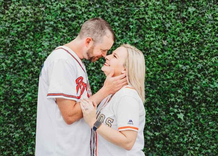 Braves Stadium Engagement Pictures - 12