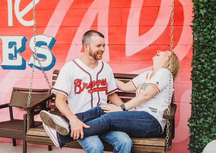 Braves Stadium Engagement Pictures - 13