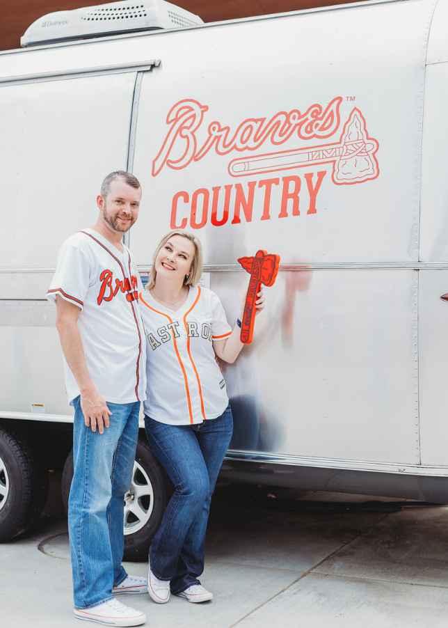 Braves Stadium Engagement Pictures - 14