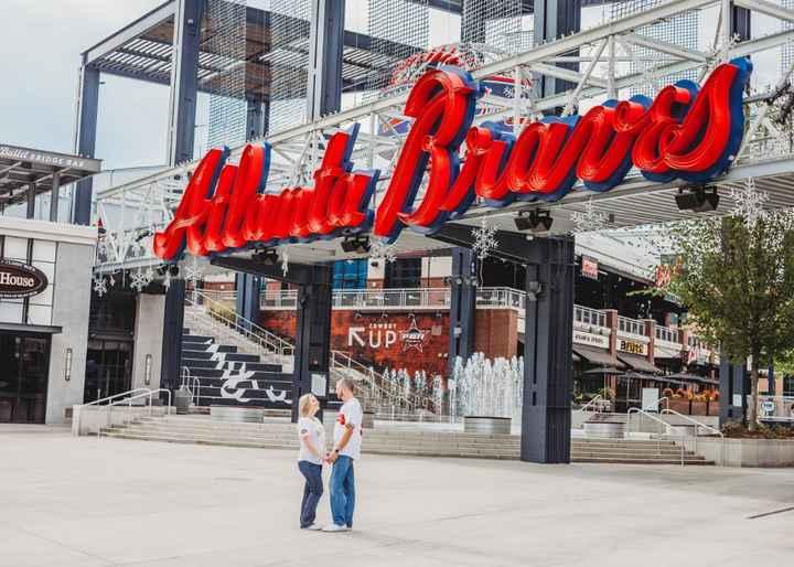 Braves Stadium Engagement Pictures - 16