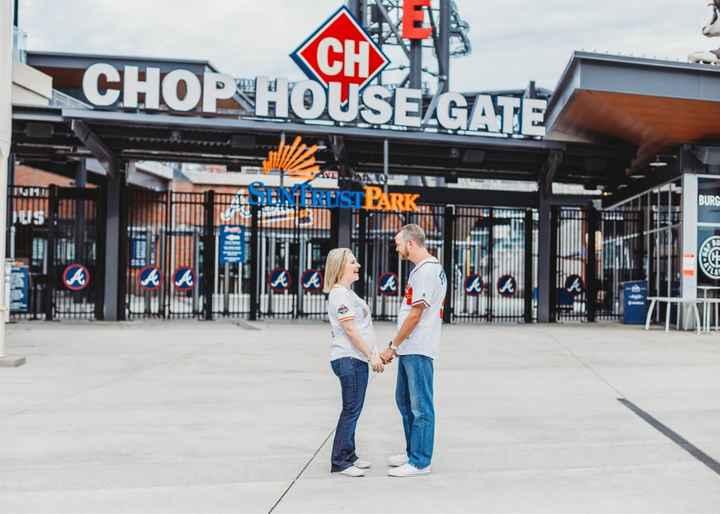 Braves Stadium Engagement Pictures - 17
