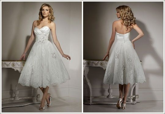 Any girls with short/tea length bridal gowns?