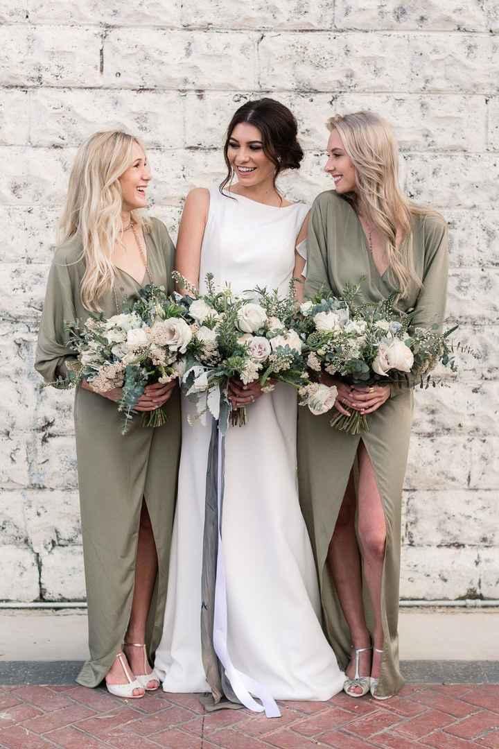 Example Color: Sage Green Bridesmaid Dresses
