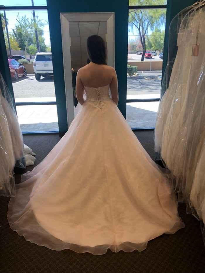 peach ivory dress