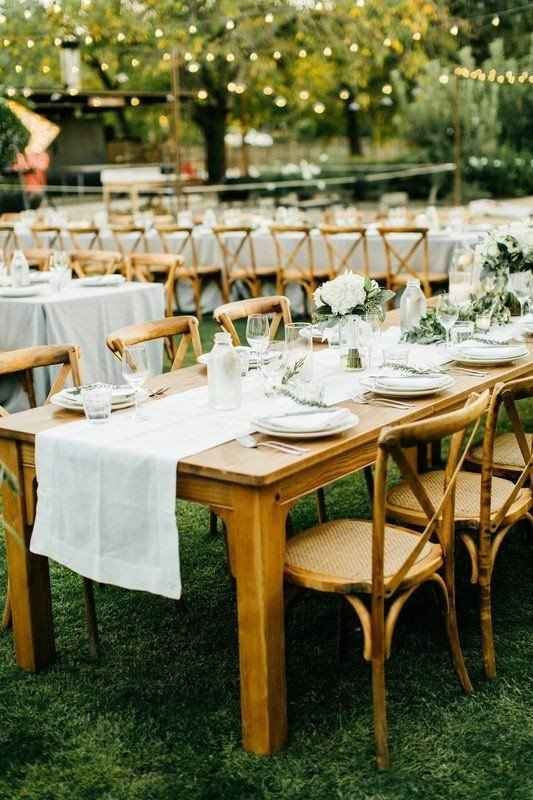 Wooden & wicker seating