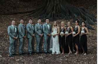 Black and grey wedding party