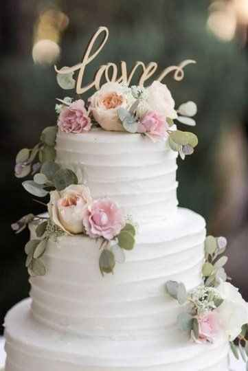 Buttercream two tiered wedding cake