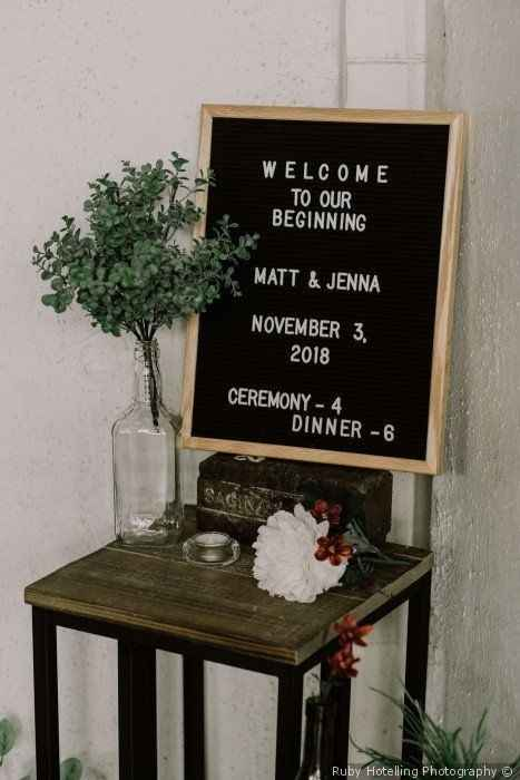 Welcome Wedding Sign Simple