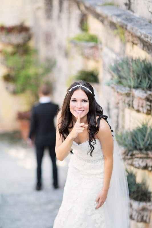 Wedding Dress First Look Surprise