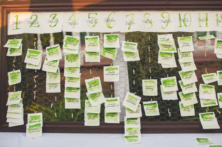 Escort Cards Green Theme