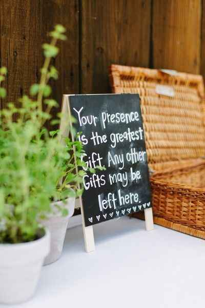 Gift Table Chalkboard Sign