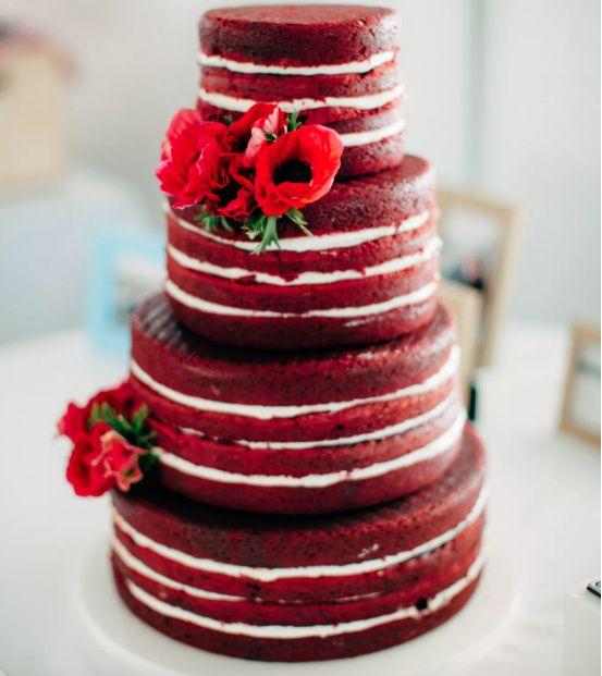 Cake Red White Or Blue Weddings Wedding Reception Wedding