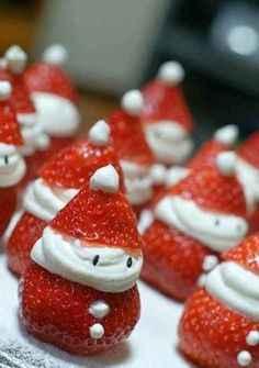 Strawberry Snowmen