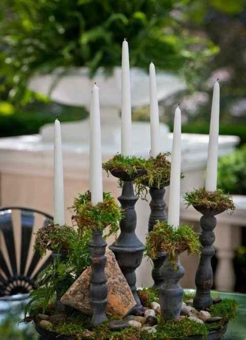 Moss Candlesticks