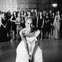 Bride bouquet toss tradition