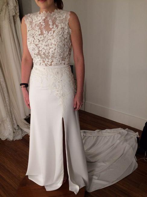 4dc159a97ce06 Pronovias Drenina vs. Rebecca Ingram Diana | Weddings, Wedding ...