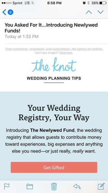 Did anyone get this email from the knot today?