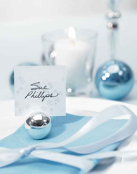 ornament place card