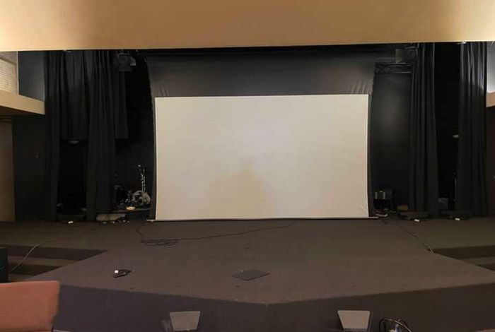 a small ceremony & a big screen! How can we decorate this? 1