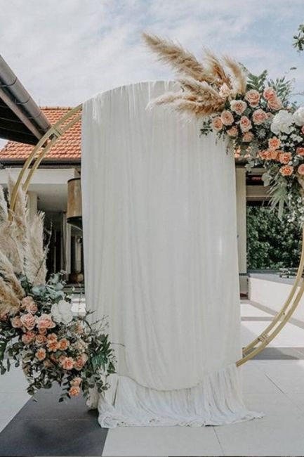 a small ceremony & a big screen! How can we decorate this? 2