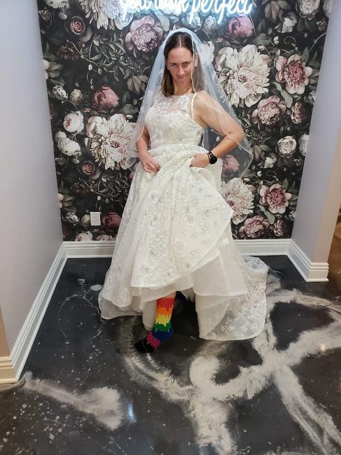 For brides who are planning to wear Converse sneakers - 1