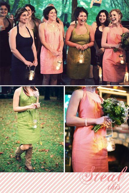 Alternative to bridesmaids bouquets 1