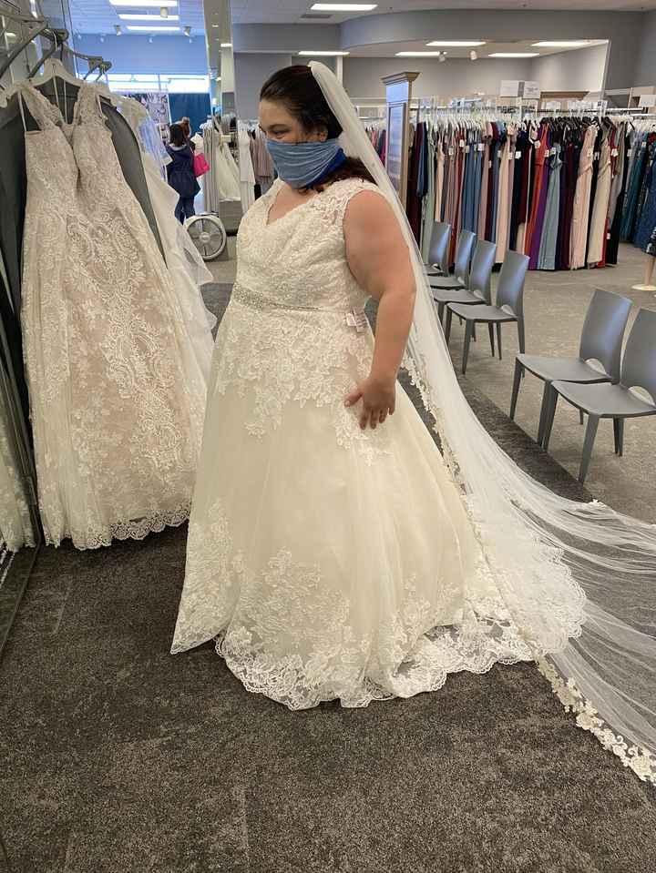 David's bridal dress adding sleeves 1