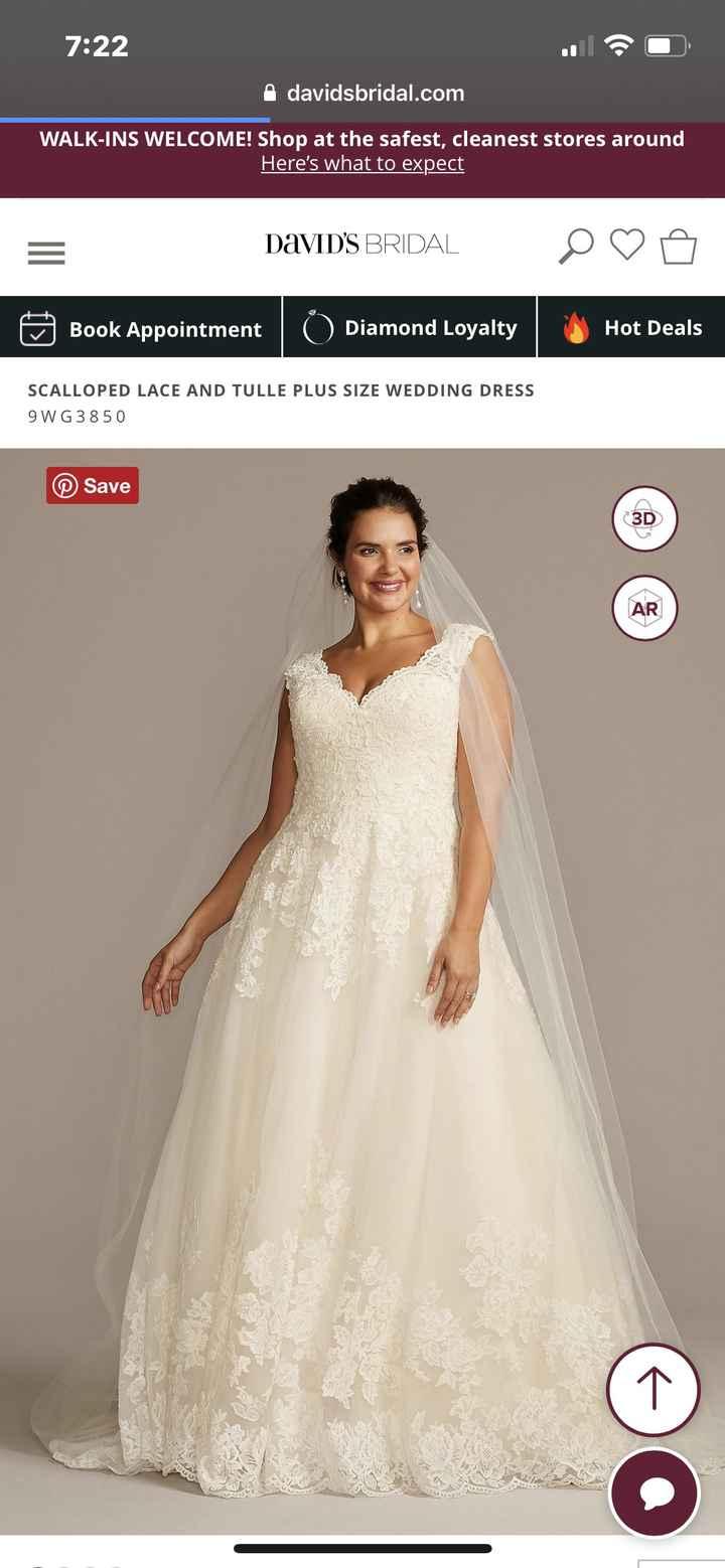 David's bridal dress adding sleeves 2